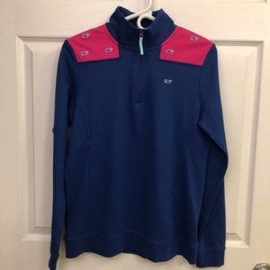 Vineyard Vines 1/4 Zip Jersey Whale Embroidered